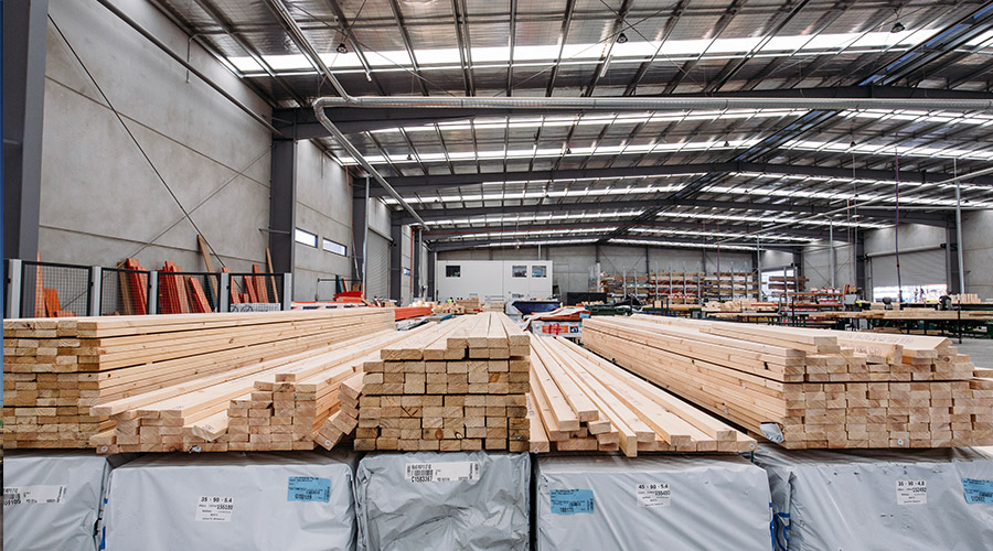Timber for prefabricated wall frames